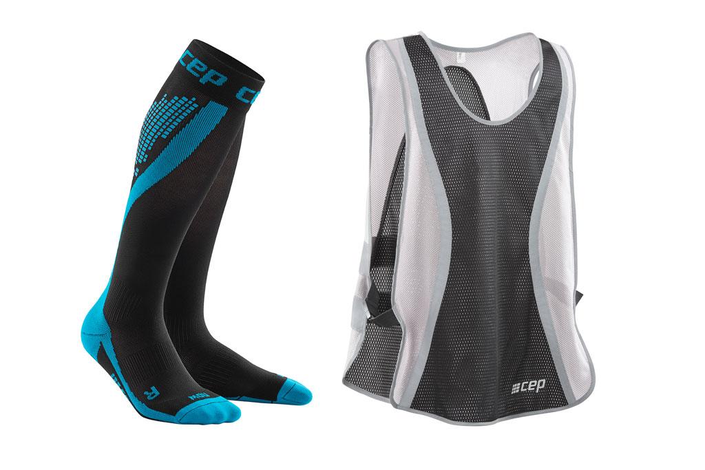 CEP Nighttech Socks + gratis Leuchtweste blau (Herren)