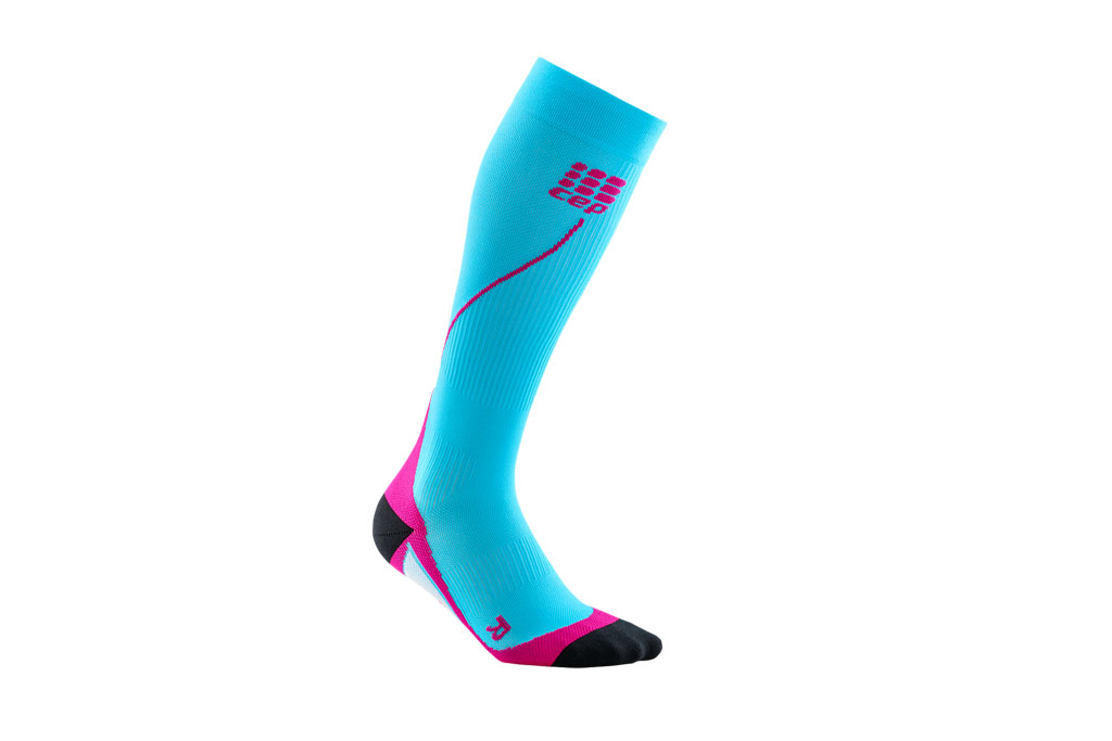 CEP Pro+ Run Socks 2.0 + gratis Shirt blau (Damen)