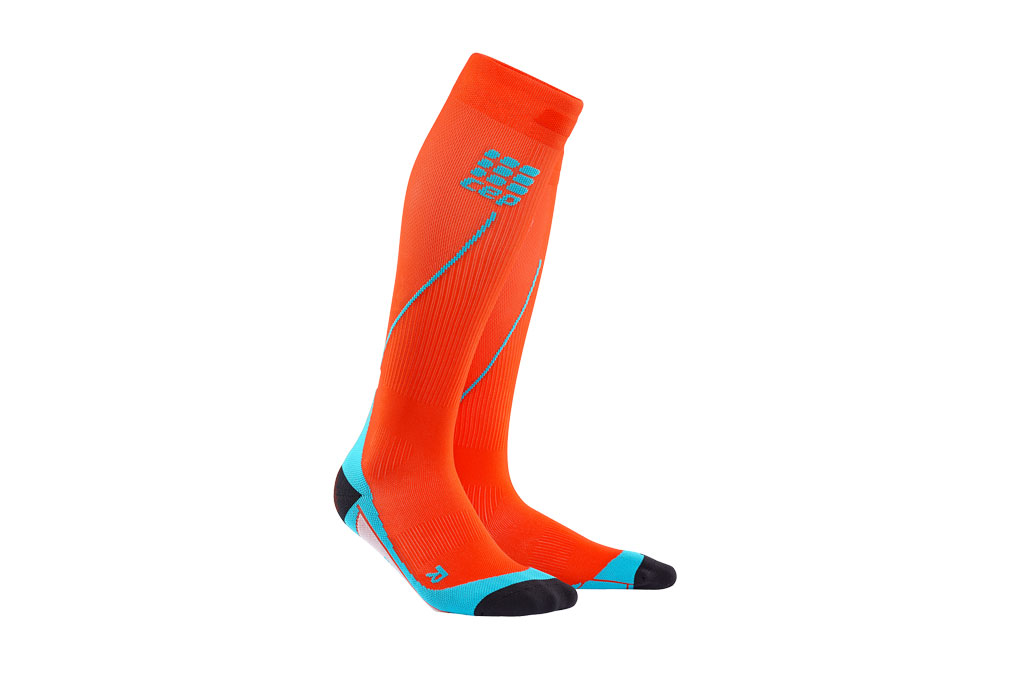 CEP Pro+ Run Socks 2.0 + gratis Shirt orange (Herren)