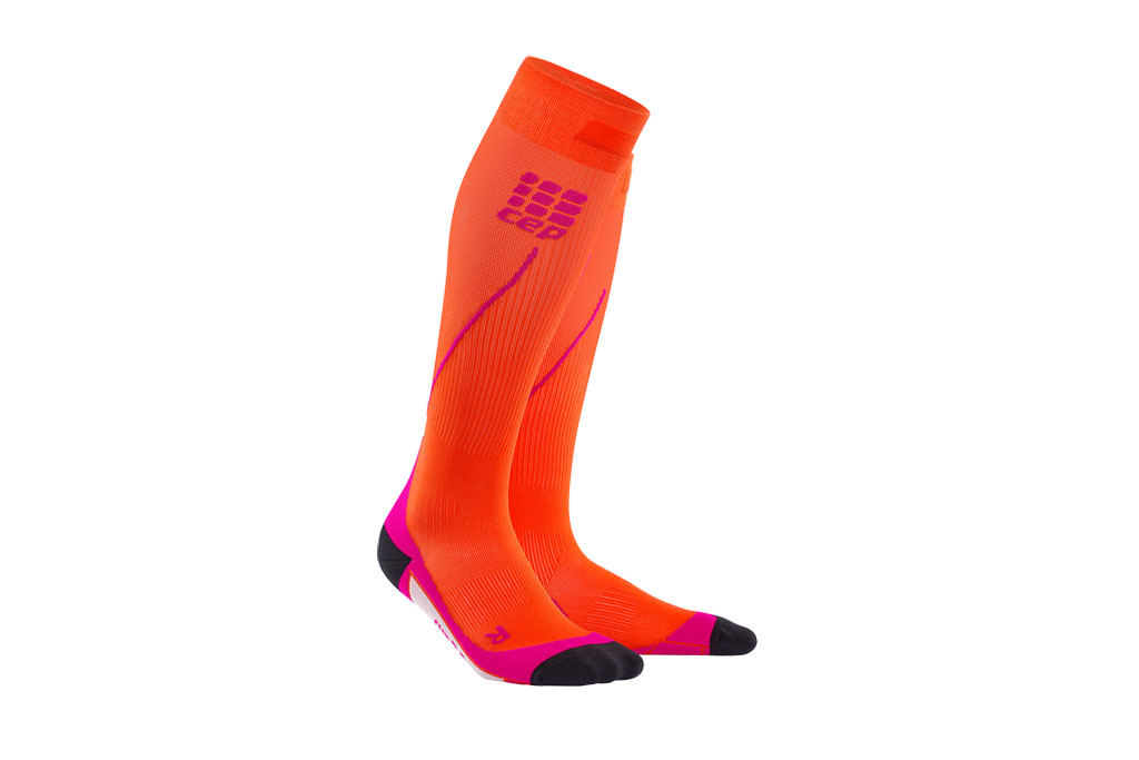 CEP Pro+ Run Socks 2.0 + gratis Shirt orange (Damen)